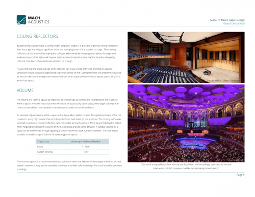 Grand Central Hall - Guide to Music Space Design