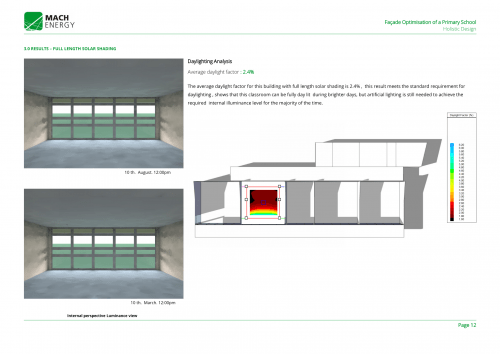 Facade Optimisation For A Primary School