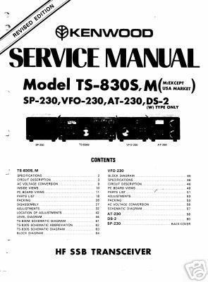 Trio kenwood ts-830S ts-830M user + service manual