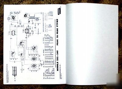 Eico 232 249 vtvm manual large 85X11 inch booklet