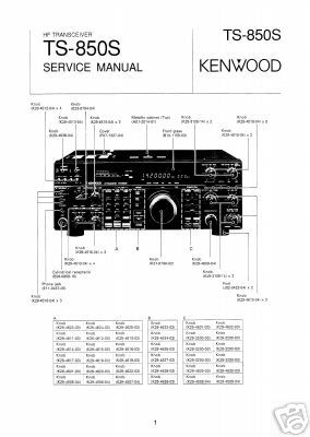 Trio kenwood ts-850 ts-850S TS850S service manual
