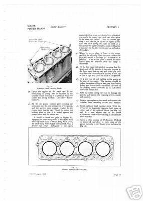 Fordson major & power major tractor service manual
