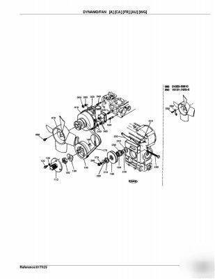 Kubota bx series tractor parts manuals on cd