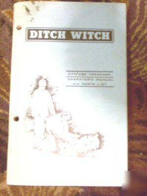 Ditch witch C77 C99 trencher operators manual parts