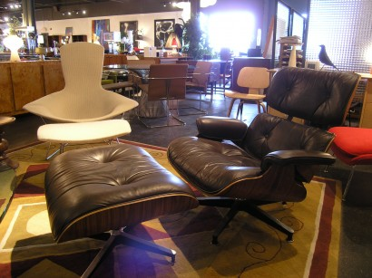 herman miller chairs vintage retro rocking chair machine age new england s largest selection of mid 20th century brown leather lounge and ottoman by eames for