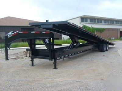 New kerrbilt 40 gooseneck flatbed container trailer