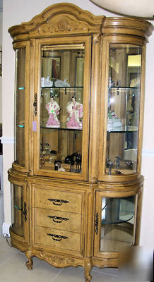 Bernhardt flair division lighted china cabinet we ship