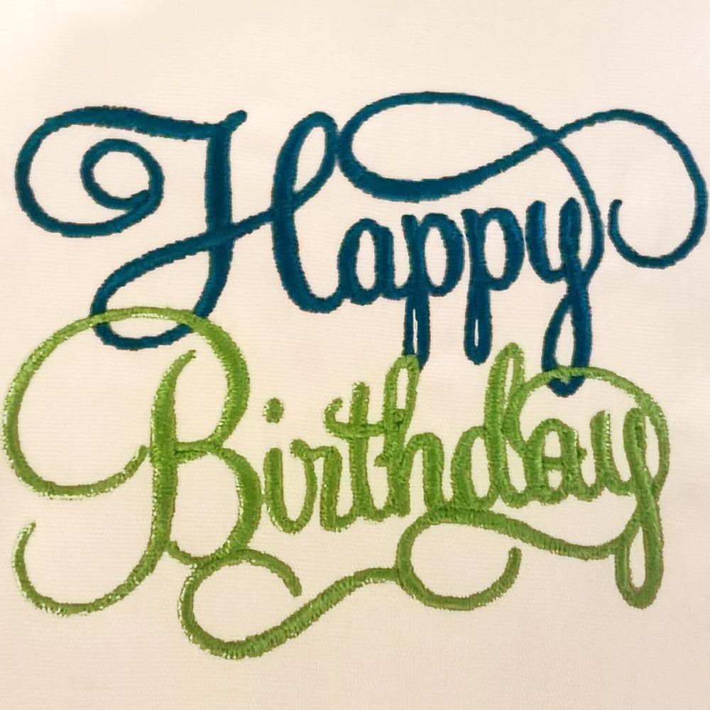 elegant happy birthday in