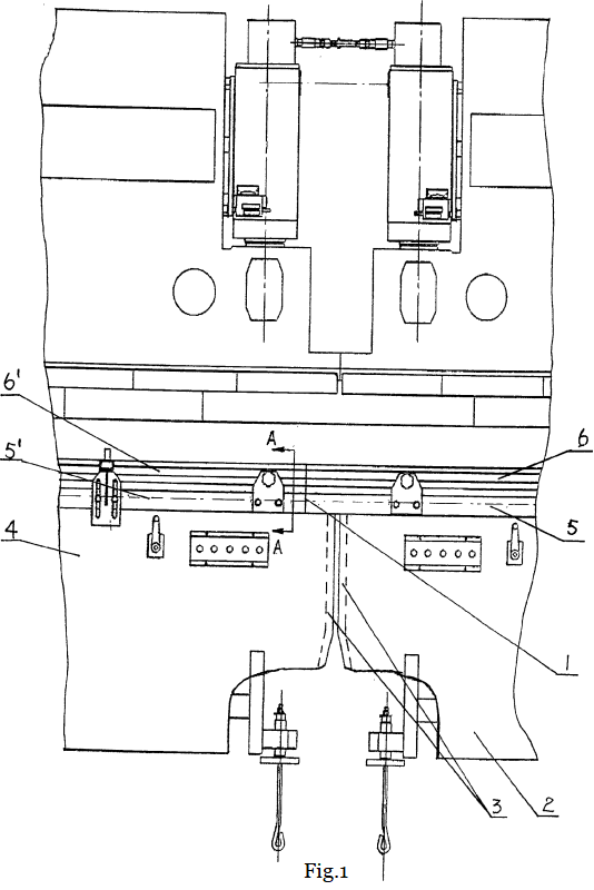 Fig.1 The schematic of the tandem press brake