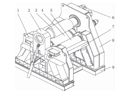 Structure of four-roll plate bending machine