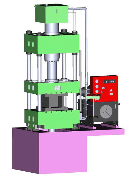 Hydraulic Press Machine Diagram