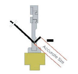 The press brakeerror accumulates to the inner space size