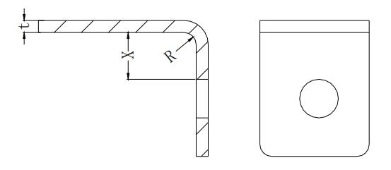 Figure 1-12 Minimum distance between a hole and a flange