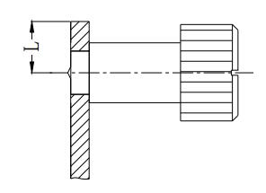 Figure 1-46 Minimum distance between the center line and the edge of the sheet