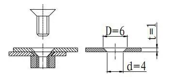 Figure 1-57 Countersunk head screw connection