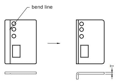 Pressing the groove before bending