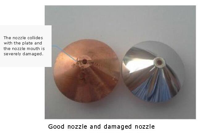 Effect of nozzle breakage on cutting quality
