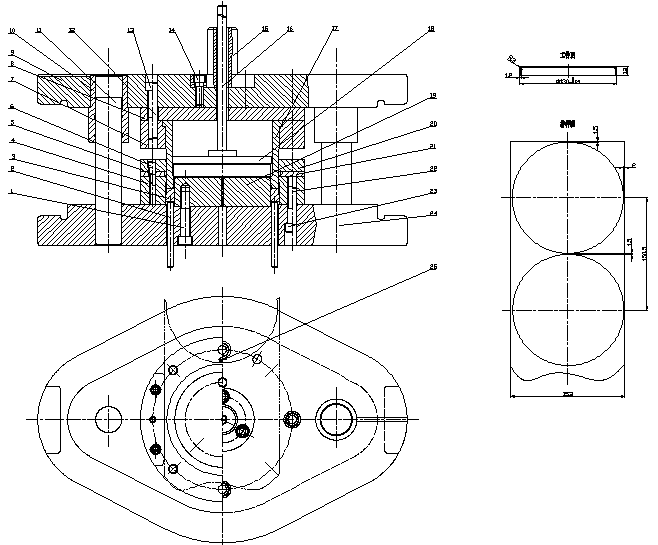 Blanking and drawing composite die