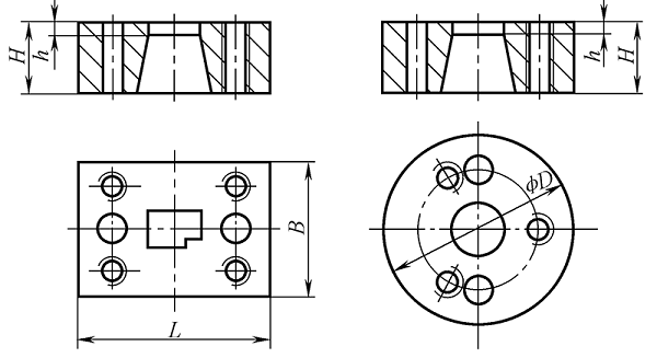 Shape design of the die—shape and size