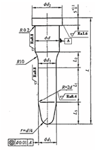 Structure and fixing method of standard B type guide pin