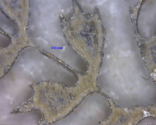 After 50 times magnification