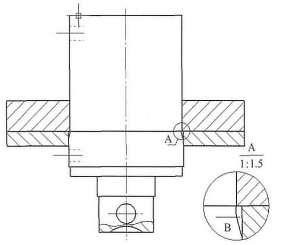 Fig. 7 Schematic diagram of shear hydraulic cylinder