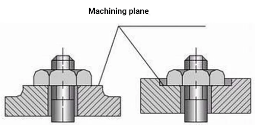 flat bearing surfaces can be obtained after cutting