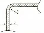 bending radius values of common materials