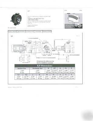 Ansimag self priming mag drive pumps, kp-326CB x 6.375