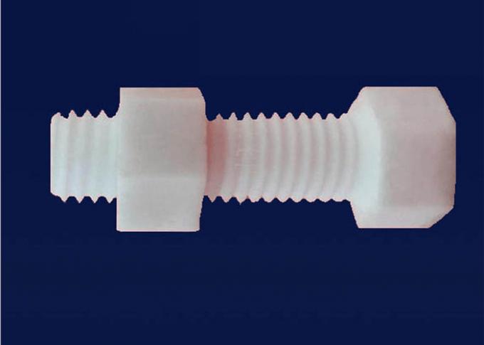 M6 Alumina Ceramic Nut And Bolts Aluminum Nitride Thread