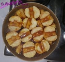 tarte tatin cuisson des pommes. Pochage au caramel