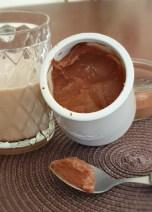 Crème dessert au chocolat en poudre