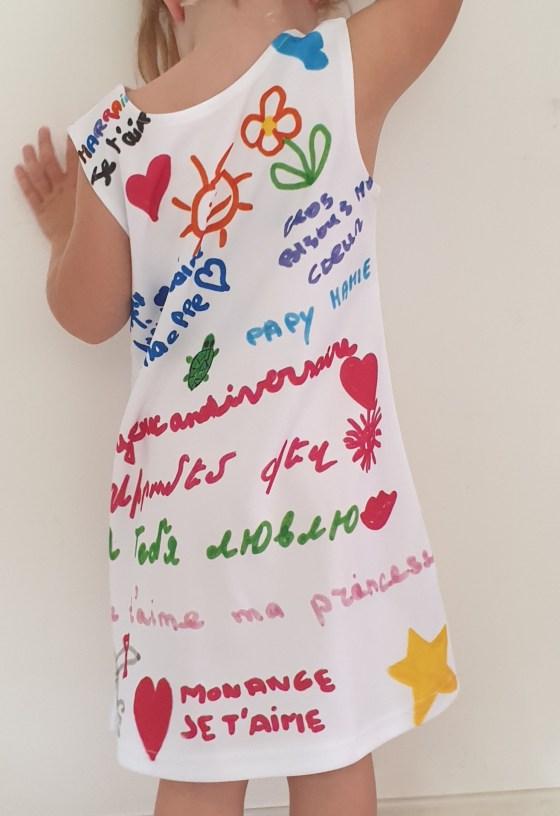 arrière robe personnalisée