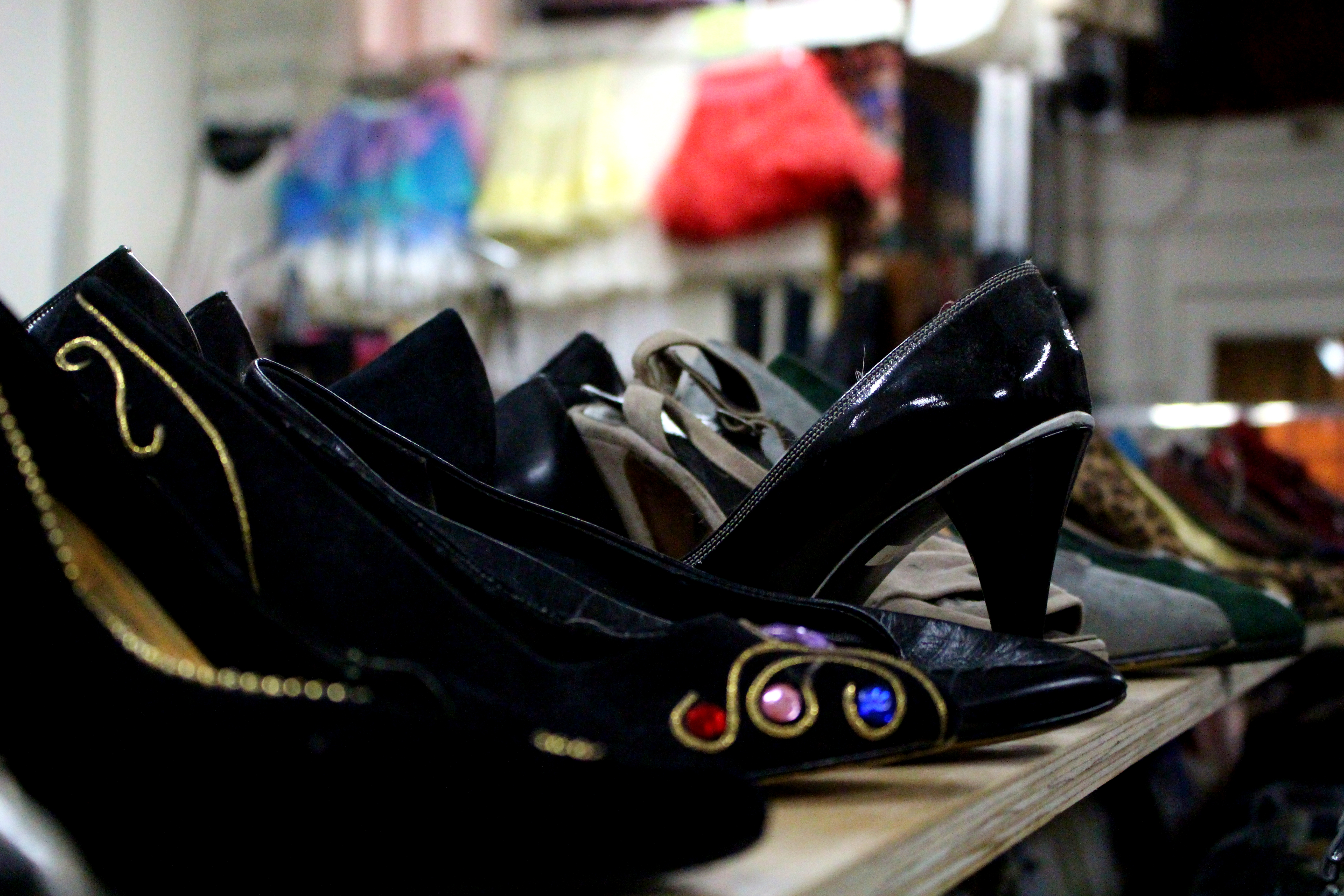 Different types of shoes are for sale. Credit: Fiona Belk / M-A Chronicle.