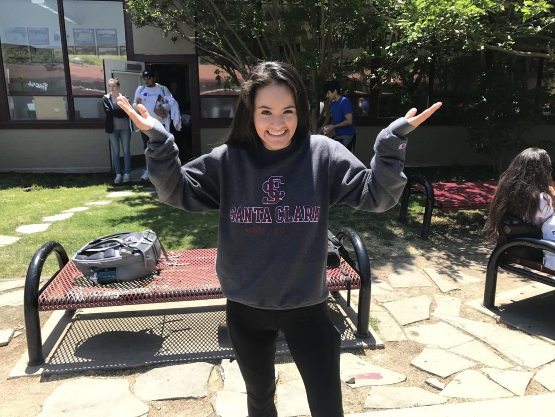 Diana Morales reps Santa Clara University, where she will be playing Division 1 soccer.