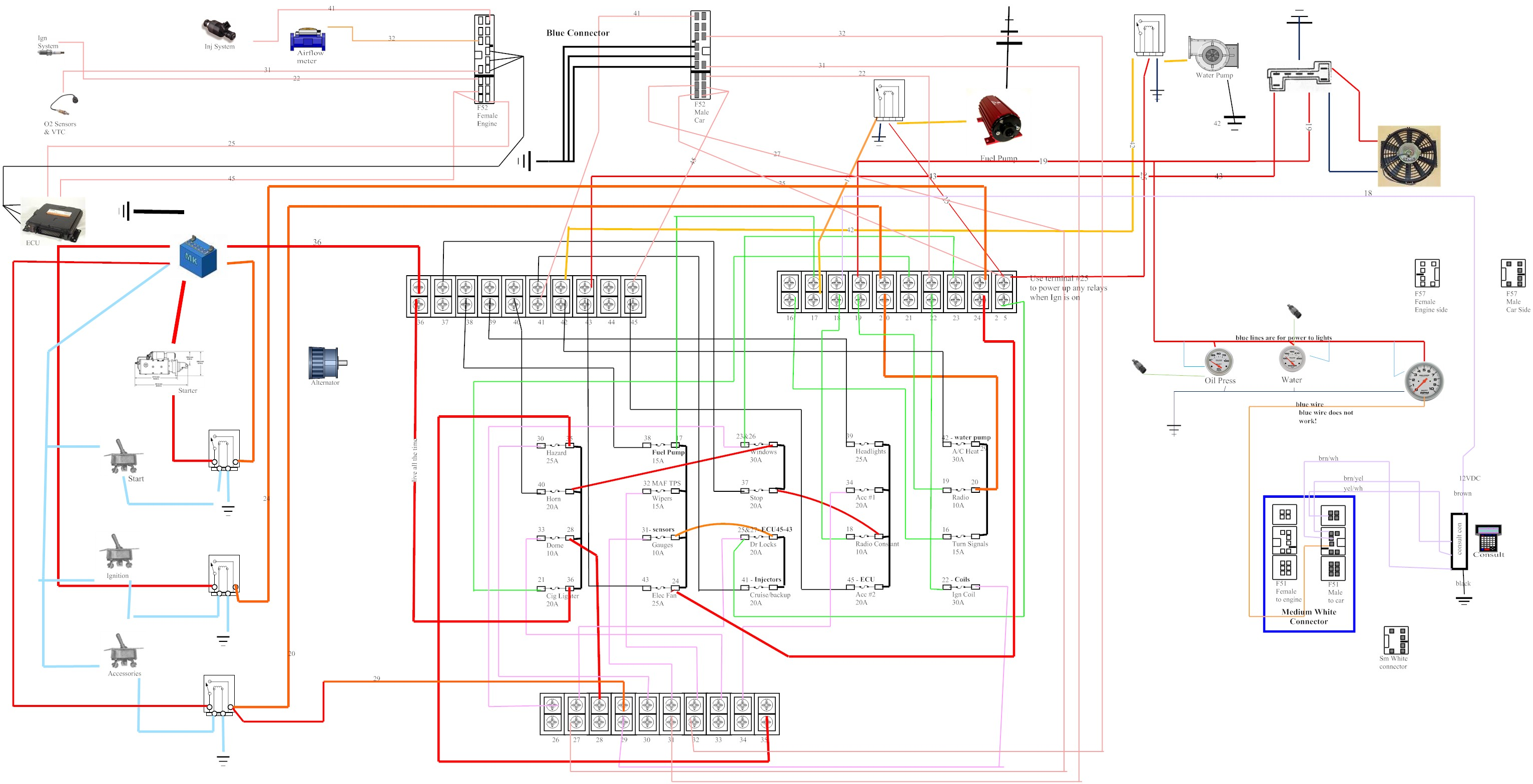 VH45 Wiring Diagram vh45de 240sx wiring harness vh45 s13 wiring \u2022 buccaneersvsrams co 3-Way Switch Wiring Diagram for Switch To at panicattacktreatment.co
