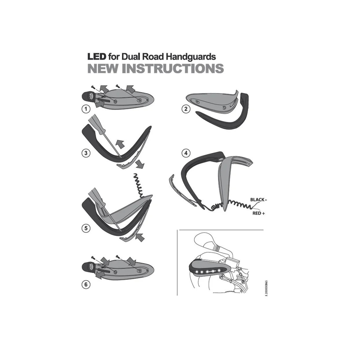 Acerbis Handschalen Dual Road Wei Verschiedene Modelle