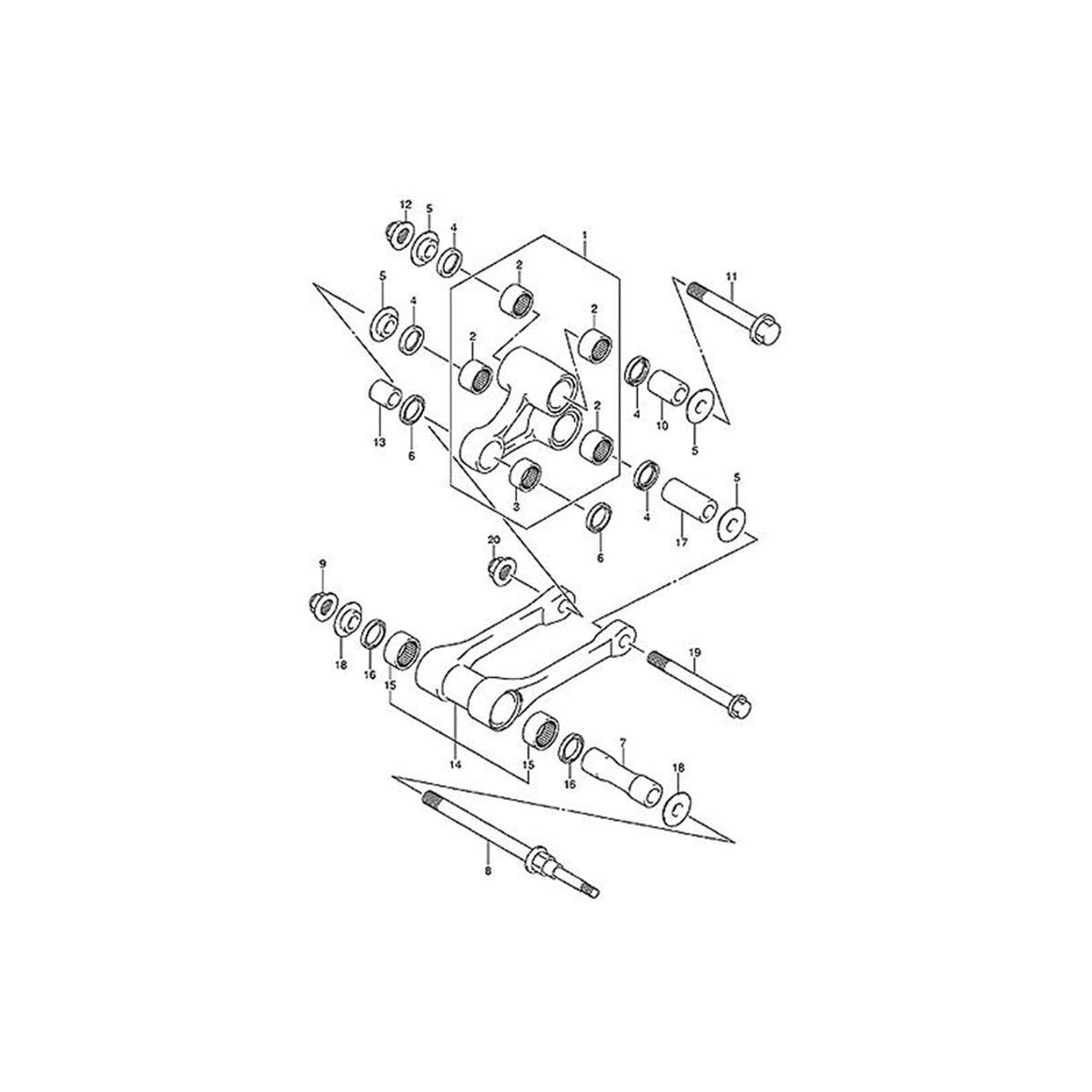 All-Balls Umlenkungs-Kit Suzuki RM 125/250, RMZ 250/450