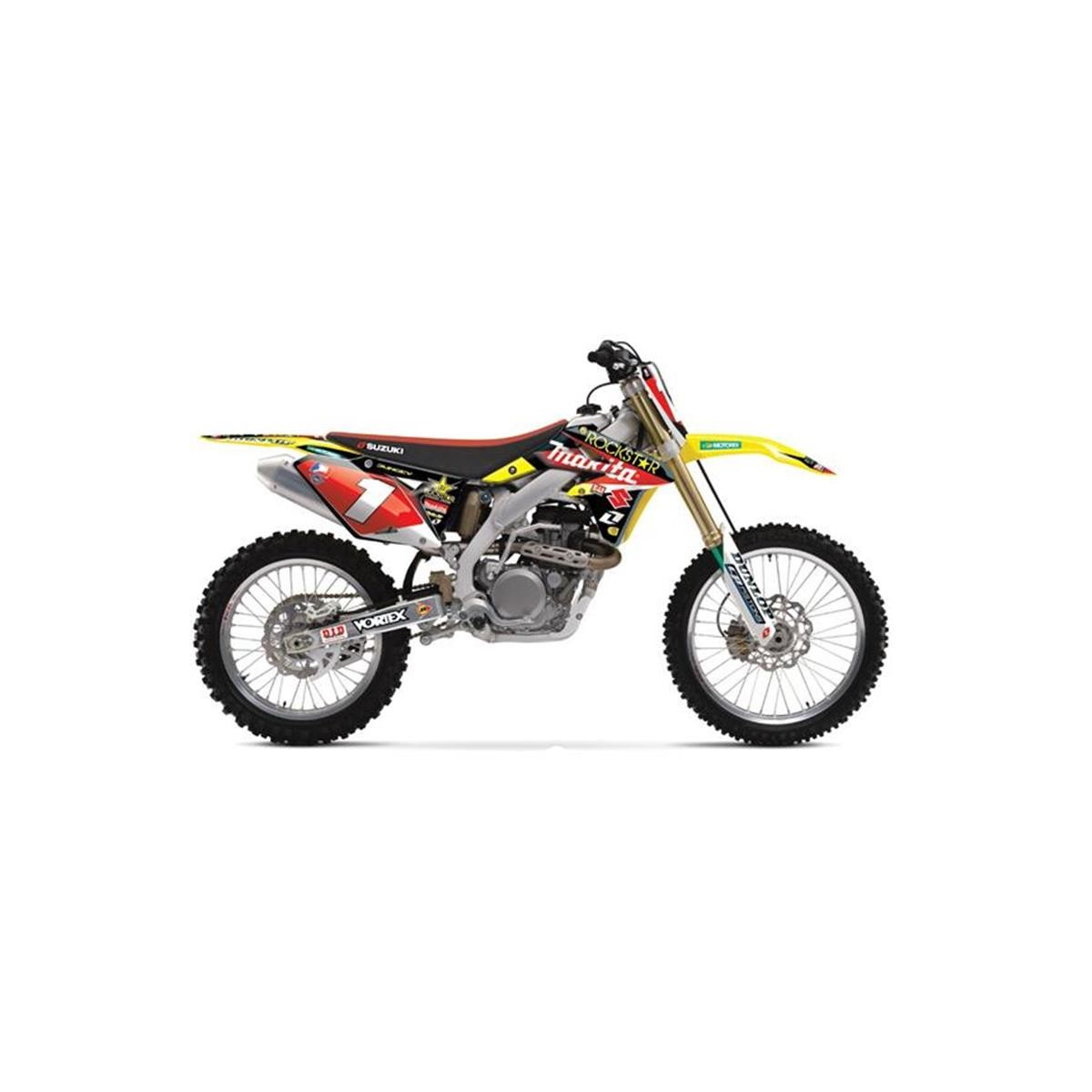 Airbrush Aufkleber Yellow Air Motocross Cut Stickers