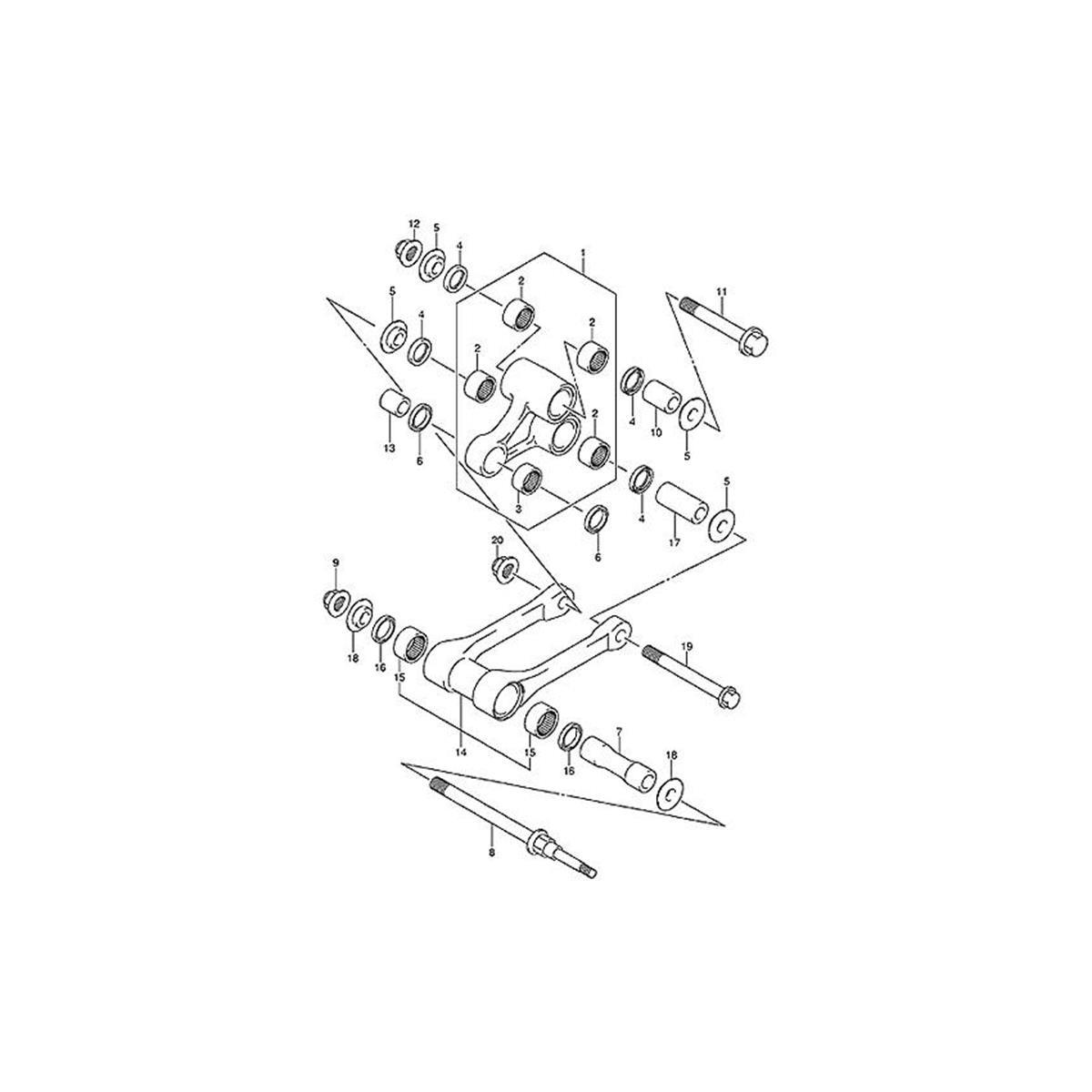 All-Balls Umlenkungs-Kit KTM SX 125/150/250, SX-F 250/350