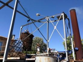 le processus de la distillation