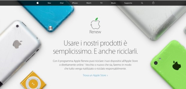 mac e pc da riciclare Apple renew