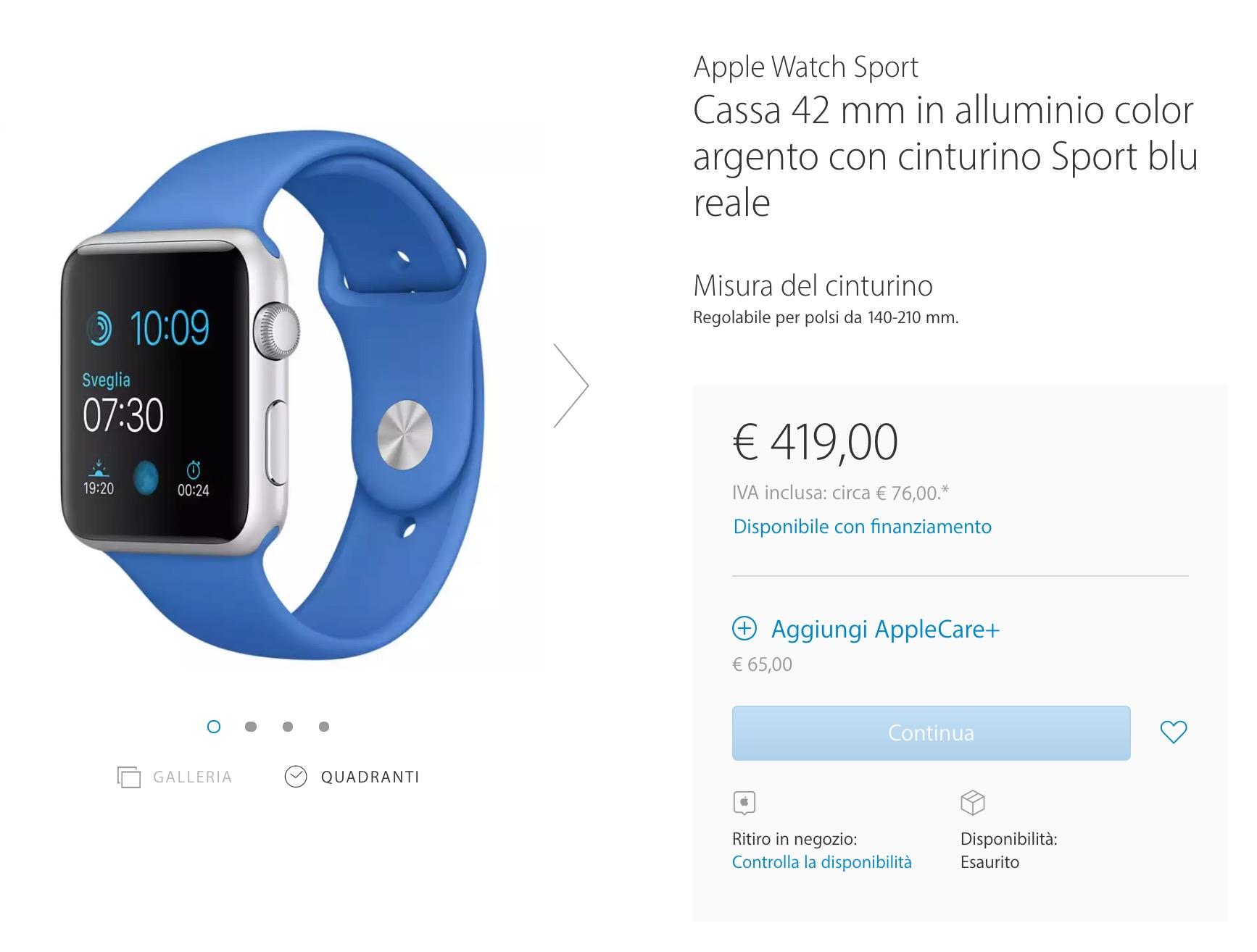 Apple Watch esaurito 1
