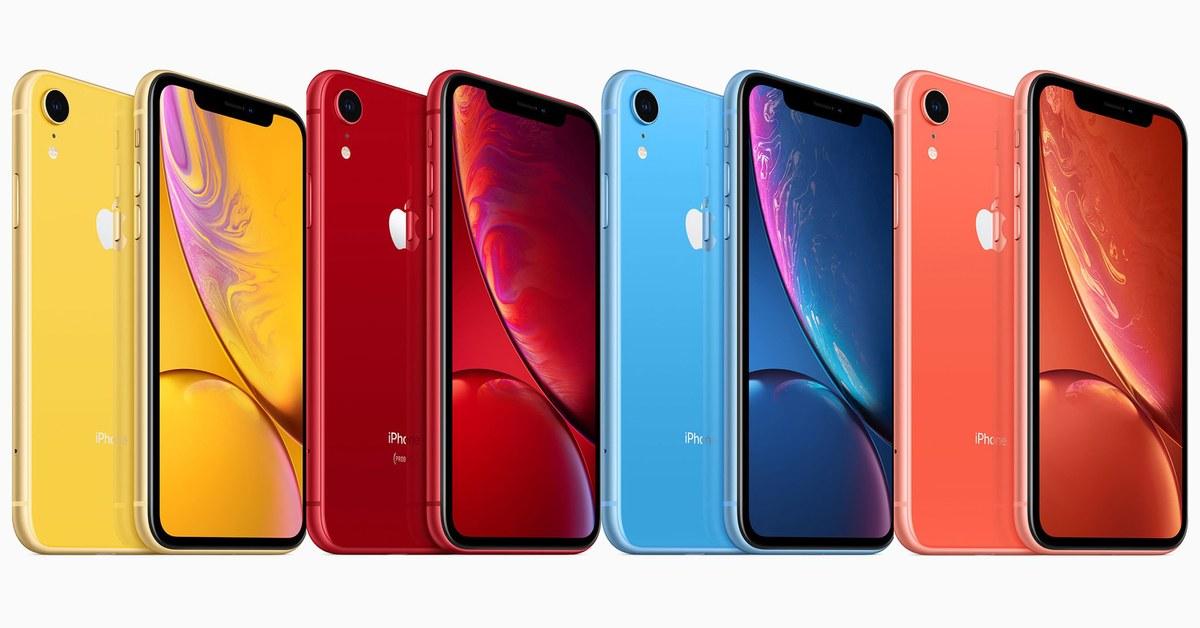 I colori degli iPhone Xr