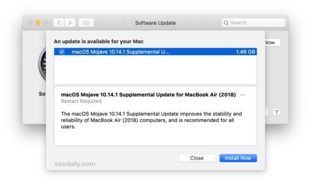 Apple rilascia il primo Supplemental Update per i nuovi MacBook Air 2018