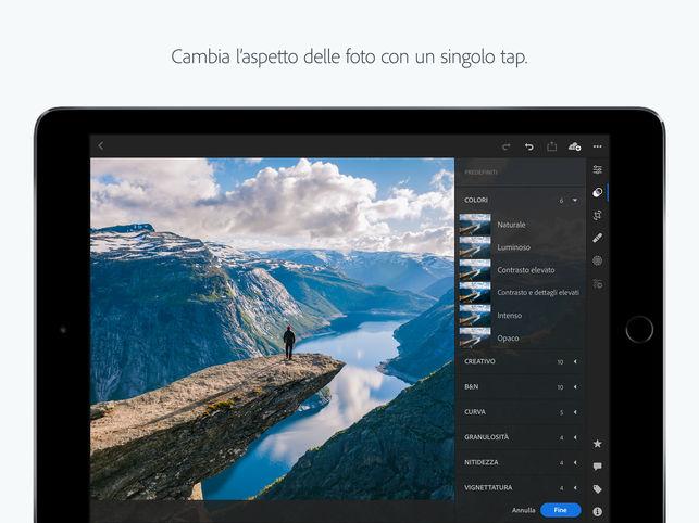 Lightroom CC per iPad supporta adesso le scorciatoie Siri