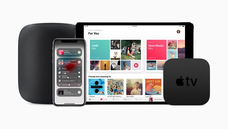 Le versioni più recenti di iOS consentono di controllare la musica riprodotta in ogni stanza, su HomePod, Apple TV o qualsiasi dispositivo iOS.