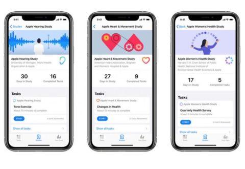 Apple lancia la sua app per la ricerca: effettua studi per la salute delle donne, il cuore e l'udito