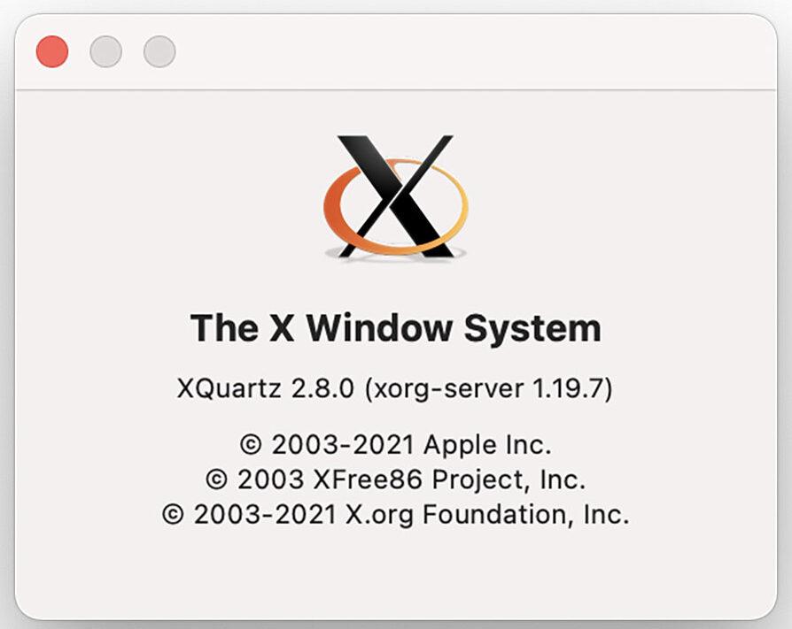 XQuartz è ottimizzato per i Mac Apple Silicon M1