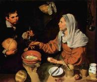 An Old Woman Cooking Eggs by Diego Velazquez